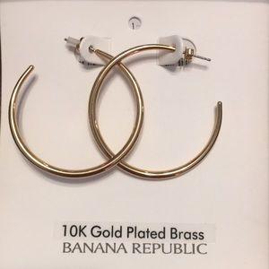 10K Gold Plated Brass Hoop Earrings